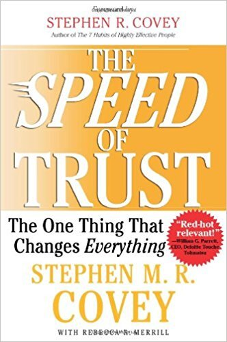Book cover - Speed of Trust