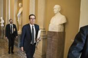 Senate Leaders Meet As Secretary Mnuchin Sees Emergency Package On Track For Monday Passage