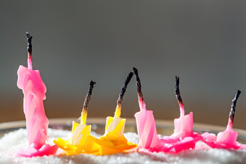 Burnt birthday candles