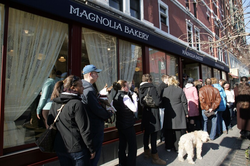 Magnolia Bakery in New York.