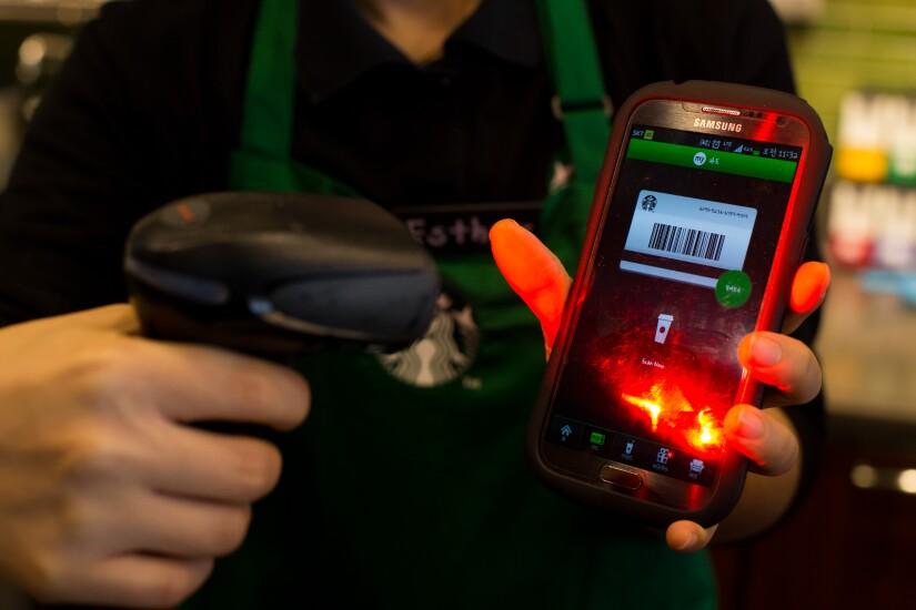 starbucks app and bar code scanner