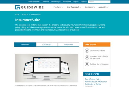 Guidewire home page image