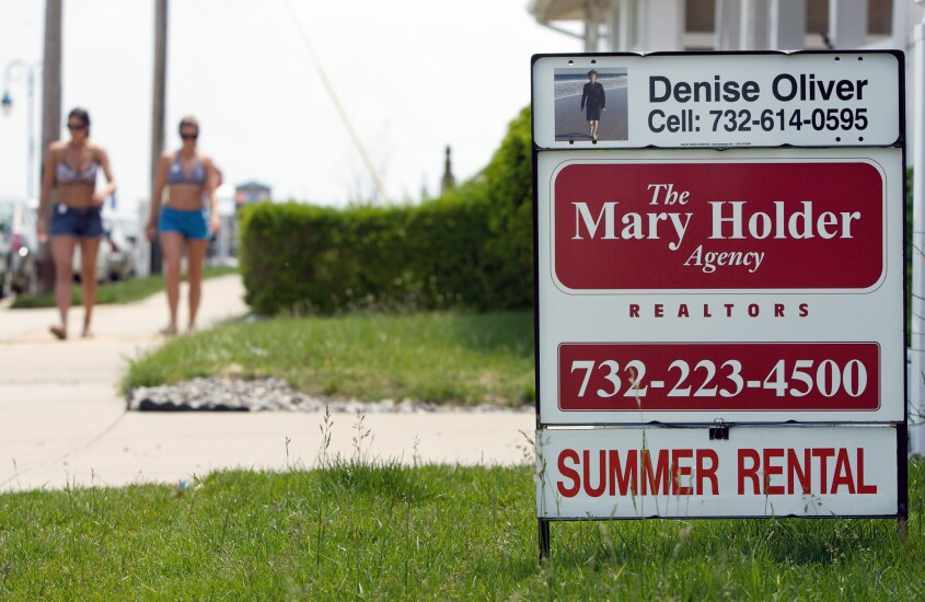 For rent sign for summer rental