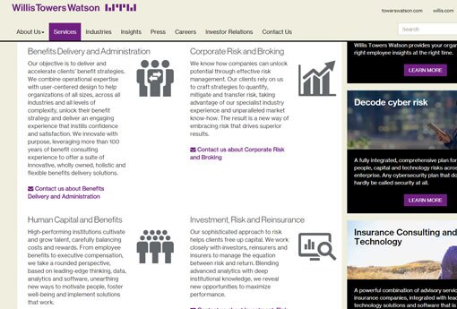 Willis Towers Watson home page