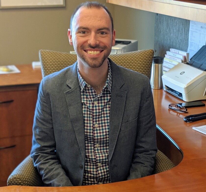 Quinn Christensen, senior vice president of operations at the People's Community Bank in Wisconsin