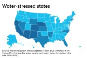 States categorized by so-called 'baseline water stress'
