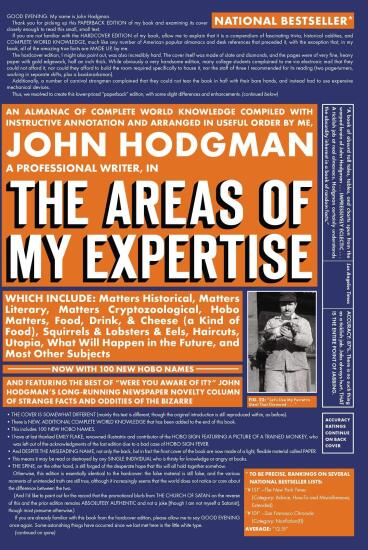 The Areas of My Expertise by John Hodgman.jpg