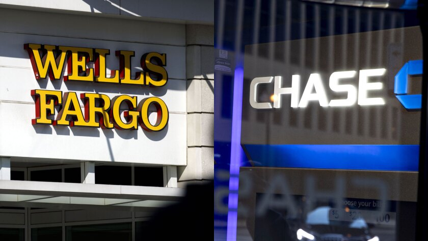 Wells Fargo and JPMorgan Chase offices