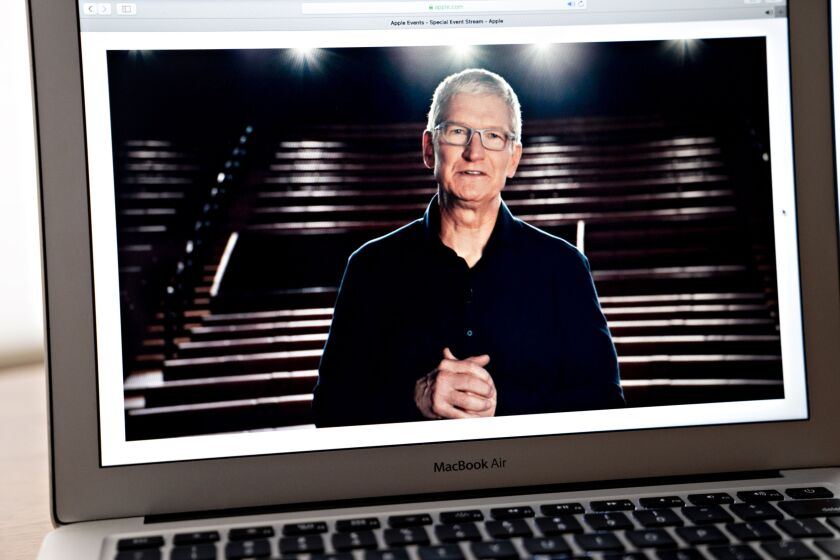 """When you pull the lens out on the Apple Card we are very happy,"" said Apple CEO Tim Cook."