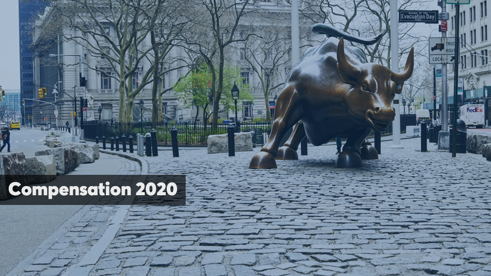 Compensation report cover slide 2020 edition $400,000 producer