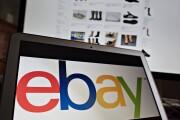 eBay logon on a screen
