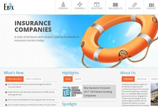 Ebix home page