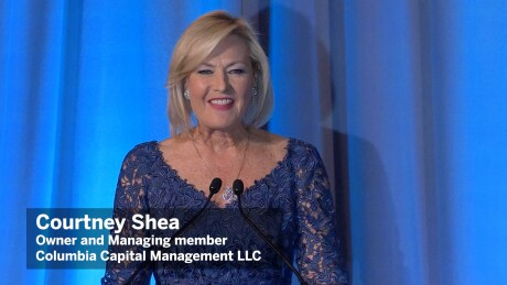 Thumbnail for Video: Courtney Shea accepts the private sector Freda Johnson award