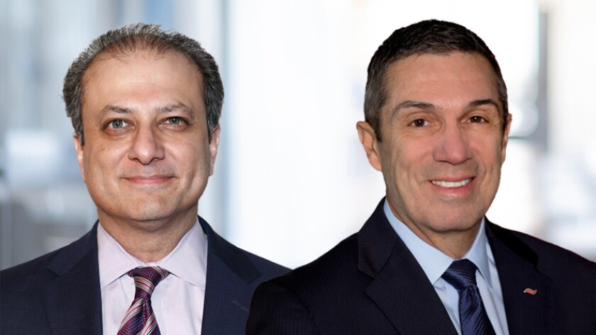 Former U.S. Attorney Preet Bharara, left, reached a settlement with Flagstar in 2012. CEO Alessandro DiNello, who took the helm of Flagstar the following year, has presided over a rebound in the company's financial fortunes.