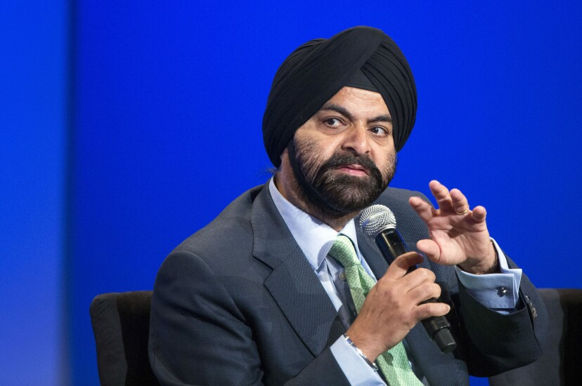 Ajay Banga, president and chief executive officer of Mastercard Inc.