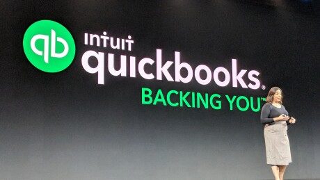 Intuit's Ariege Misherghi speaking at QuickBooks Connect