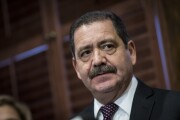 """Rep. Jesus """"Chuy"""" Garcia, D-Ill., shown here in a photo from Nov. 28, 2017, when he was commissioner of Cook County."""