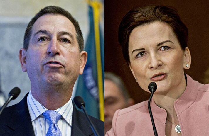 Comptroller of the Currency Joseph Otting and FDIC Chairman Jelena McWilliams