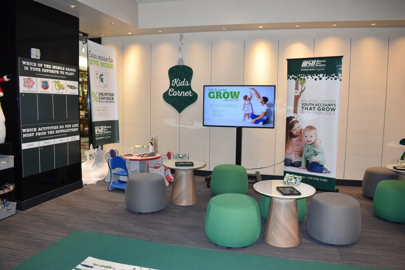 A look inside Michigan State University FCU's holiday pop-up shop at the Rivertown Mall in Grand Rapids, Mich. The credit union debuted the pop-up shop model in 2017 at a mall near its East Lansing, Mich. headquarters.
