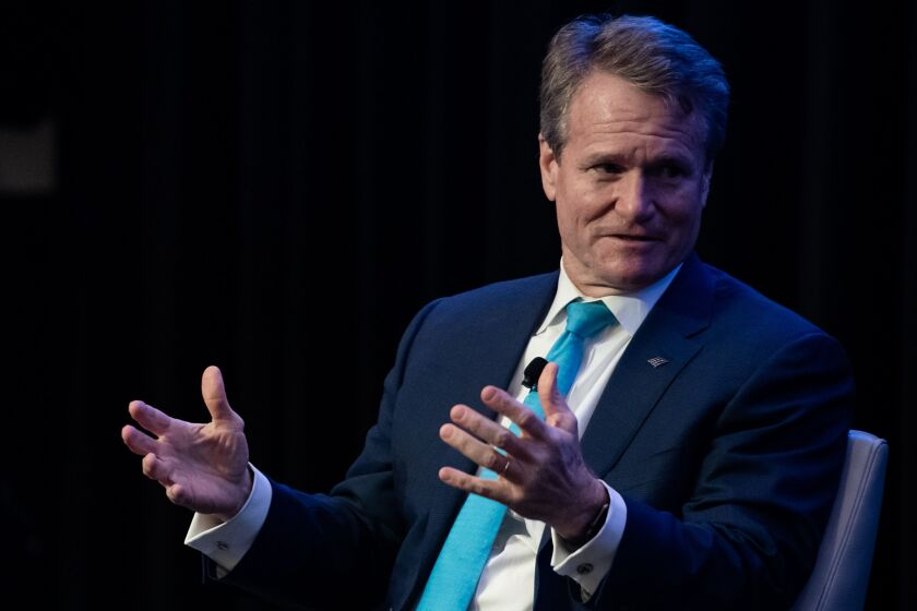 """We look forward to working on the big problems that face the world,"" Bank of America CEO Brian Moynihan said at the opening of the company's Future of Financials 2020 virtual conference Monday."