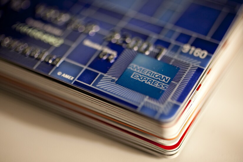American Express cards stack