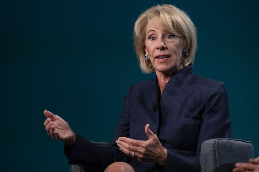 Betsy DeVos, secretary of education, speaks