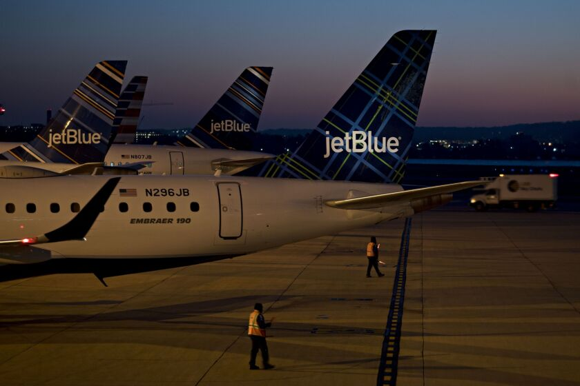 JetBlue Airways said Wednesday that it used the full $1 billion from an available loan facility.