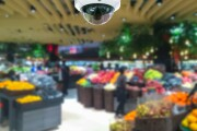 Surveillance camera in a grocery store