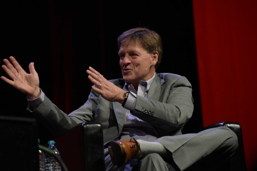 Michael Lewis second hand gesture Morningstar investment conference Wyckoff-Tweedie Photography April 2017