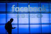 Facebook user with logos