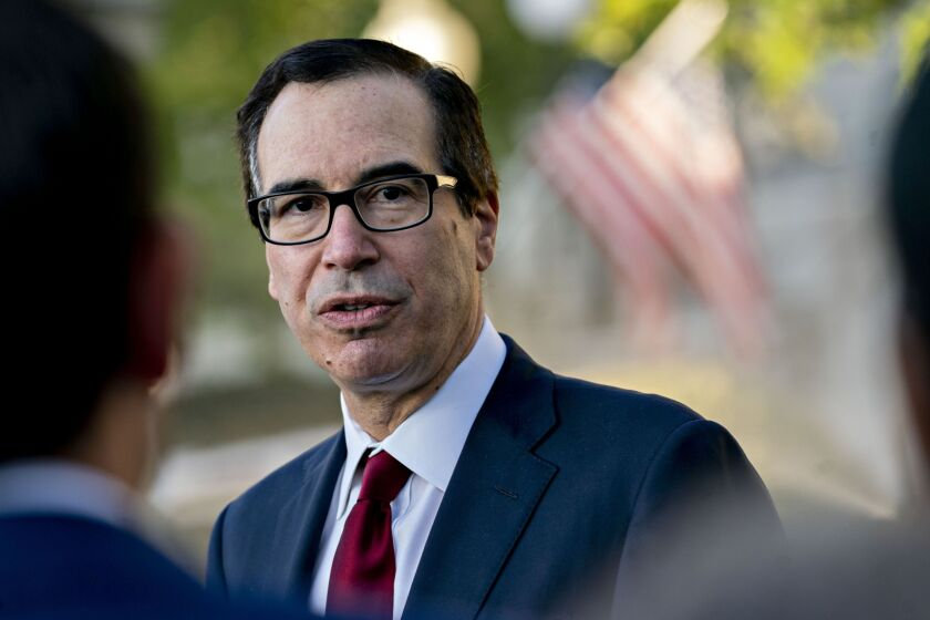 """""""Treasury expects that it will be necessary to maintain limited and tailored government support"""" to provide confidence that the GSEs will meet their financial obligations, Treasury Secretary Steven Mnuchin wrote."""