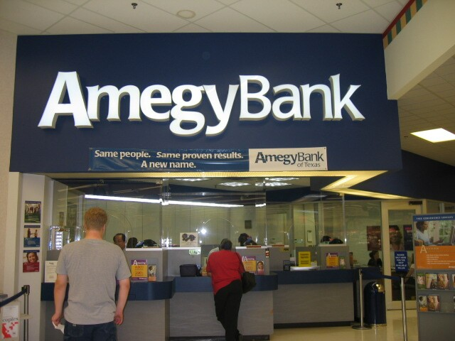 This photo that was taken shortly after the name change to Amegy Bank from Southwest Bank of Texas  in 2005.
