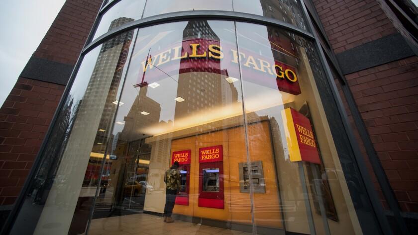 Wells Fargo bank shiny window Bloomberg News