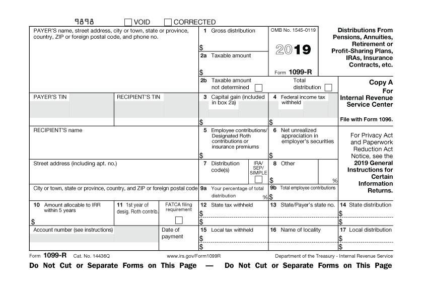 IRS form 1099-R 2019-Ed Slott