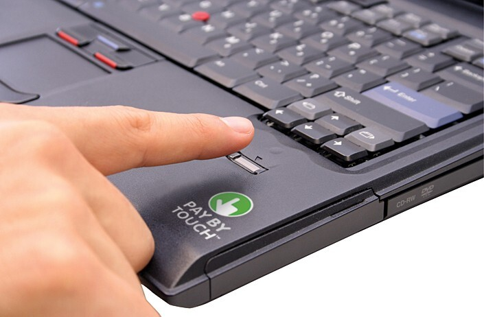 Pay By Touch laptop scanner