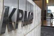 KPMG logo on wall