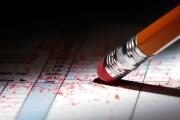 Erasing mistake on a tax return