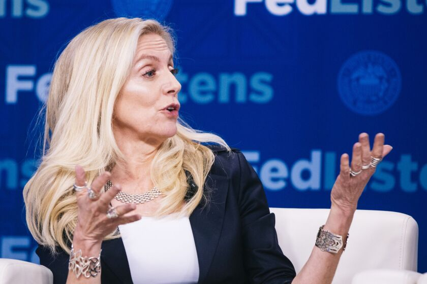 """""""The urgency with which the emergency [stimulus] payments were spent underscores the importance of rapid access to funds for many households and businesses that face cash flow constraints,"""" said Federal Reserve Gov. Lael Brainard."""