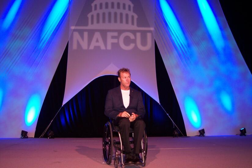 John Maclean wheelchair  at NAFCU 50th annual meeting - CUJ 062017.JPG