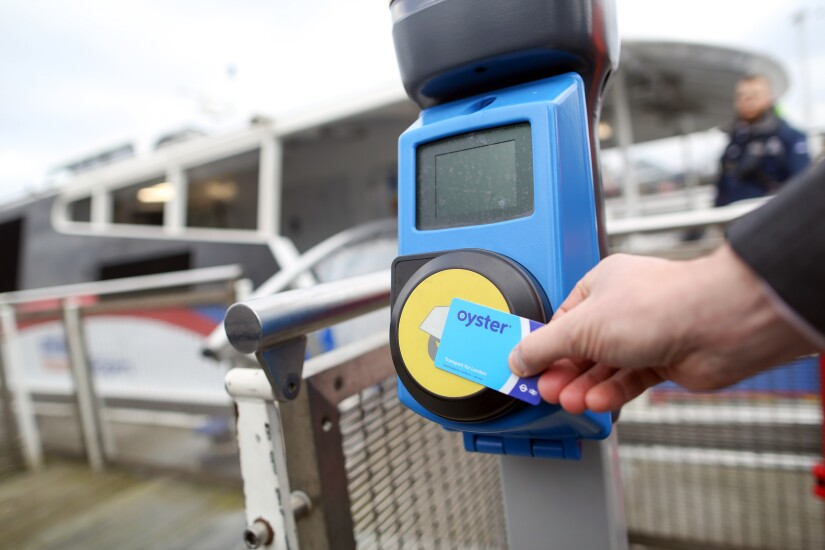 Scanning an Oyster fare card