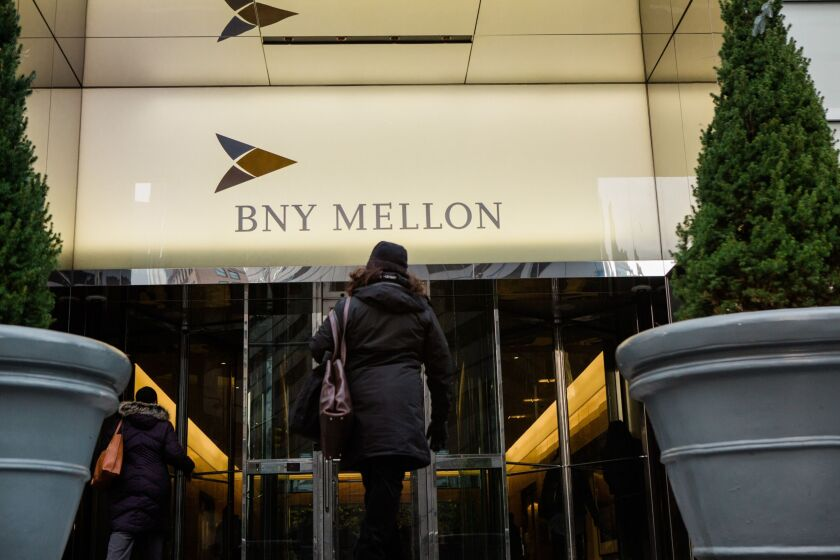 Bank of New York Mellon stock image