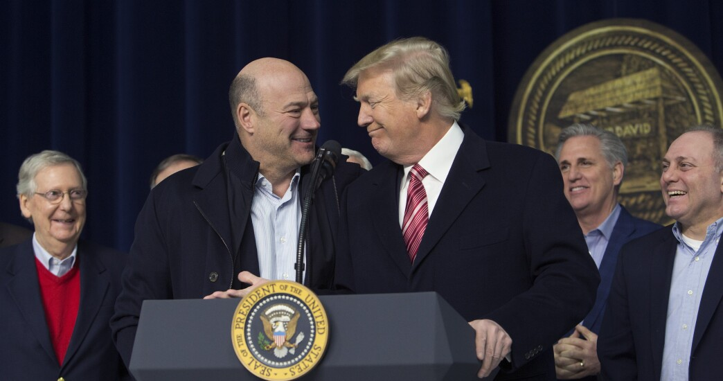 Former National Economic Council Director Gary Cohn and President Trump