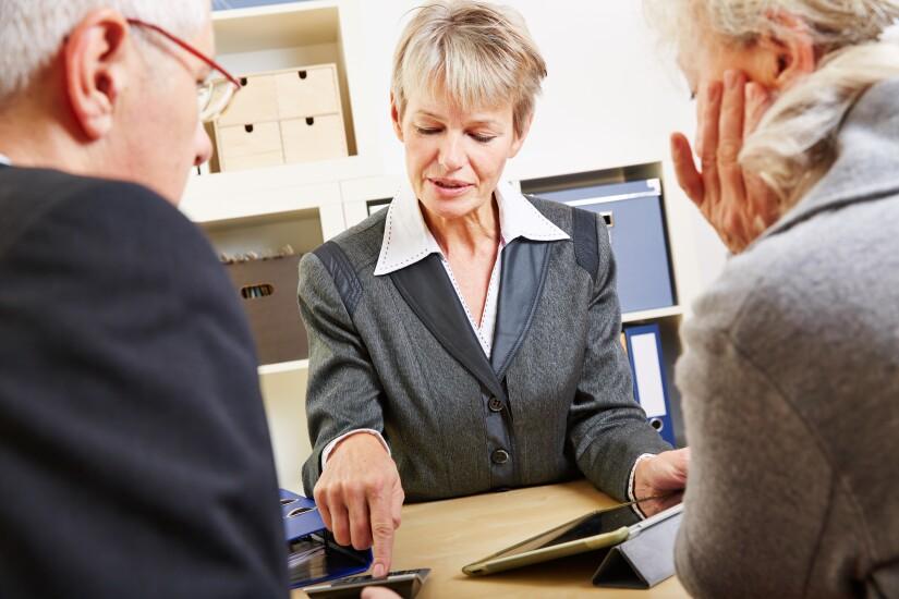 business meeting financial adviser
