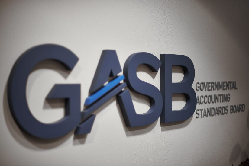 GASB logo at headquarters in Norwalk, Connecticut