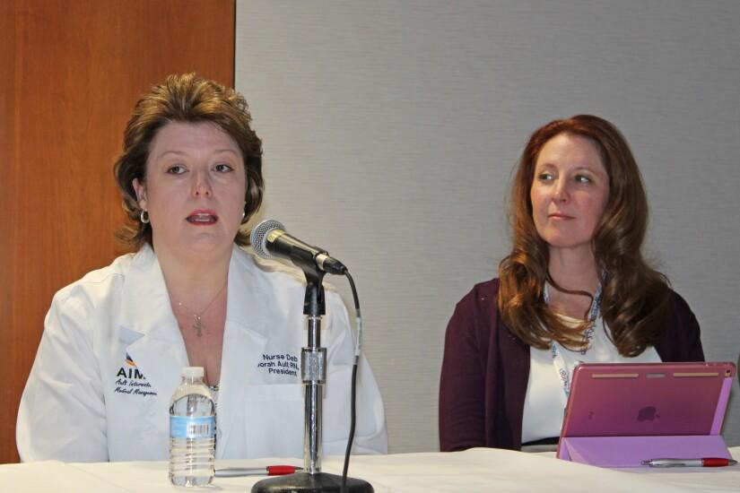 WHCC Panel - Medical Management - (L to R) Deb Ault, Karen Gast.jpg