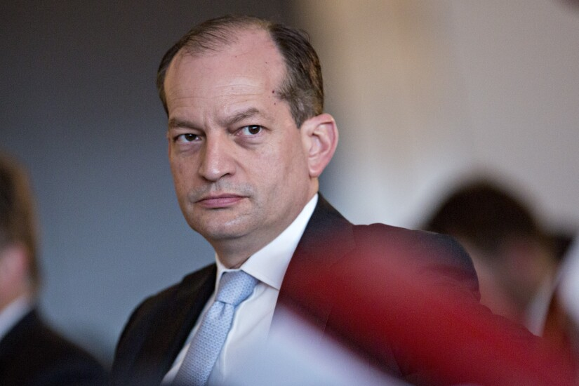 Alexander Acosta, labor secretary, at a Business Roundtable event in Washington, D.C., on June 7, 2017 Bloomberg News