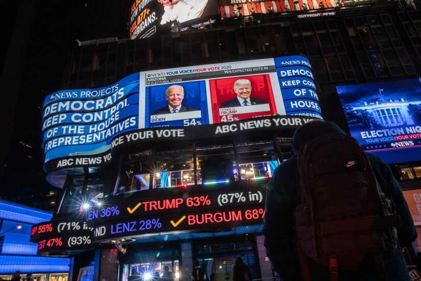 People Attend Watch Parties During 2020 U.S. Presidential Election