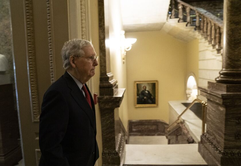 """""""This bipartisan agreement will provide more ... funding for the Paycheck Protection Program, which is already helping millions of small-business employees receive paychecks instead of pink slips,"""" said Senate Majority Leader Mitch McConnell, R-Ky."""