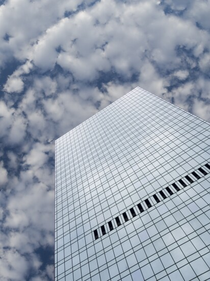 Clouds and skyscrapers