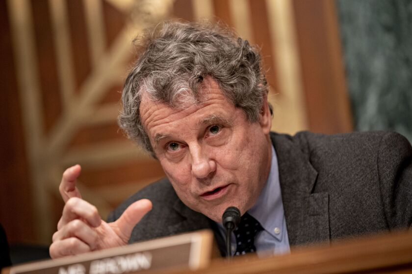 """""""We have to act now, to make sure we can focus all our efforts on preventing this virus from spreading, and don't have one crisis stacked on top of another,"""" said Sen. Sherrod Brown, D-Ohio."""
